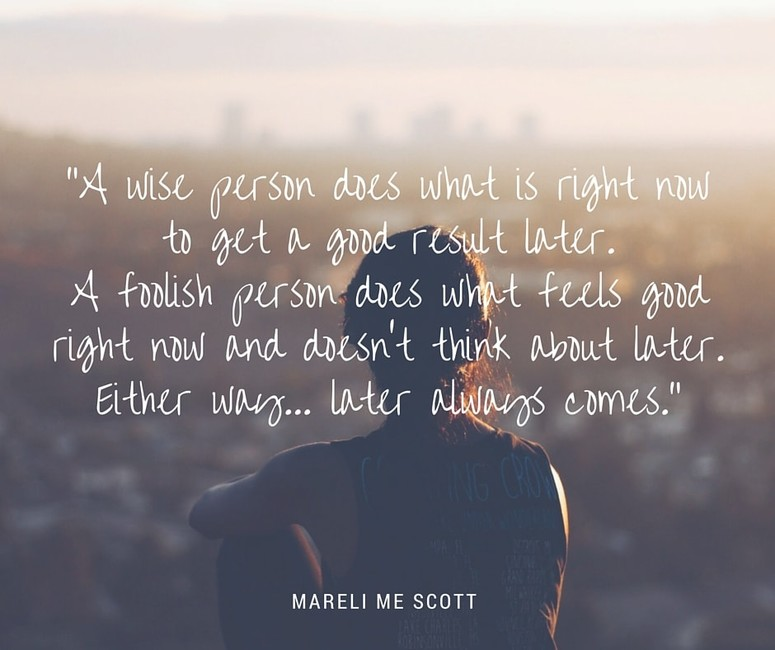 Wise person vs foolish person - Mareli Scott