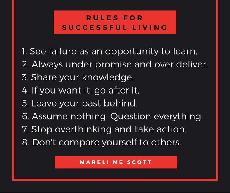 Rules for successful living - Mareli Scott