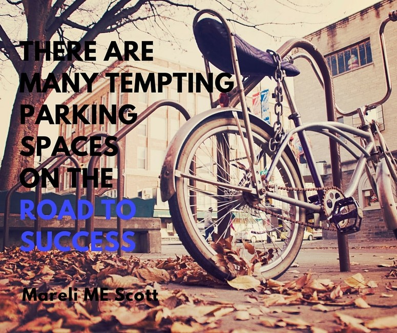 There are many tempting parking spaces on the road to success - Mareli Scott