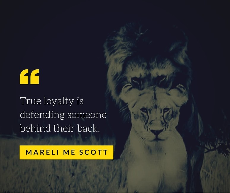 True loyalty - Mareli ME Scott