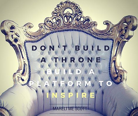 Build a platform to inspire - Mareli ME Scott