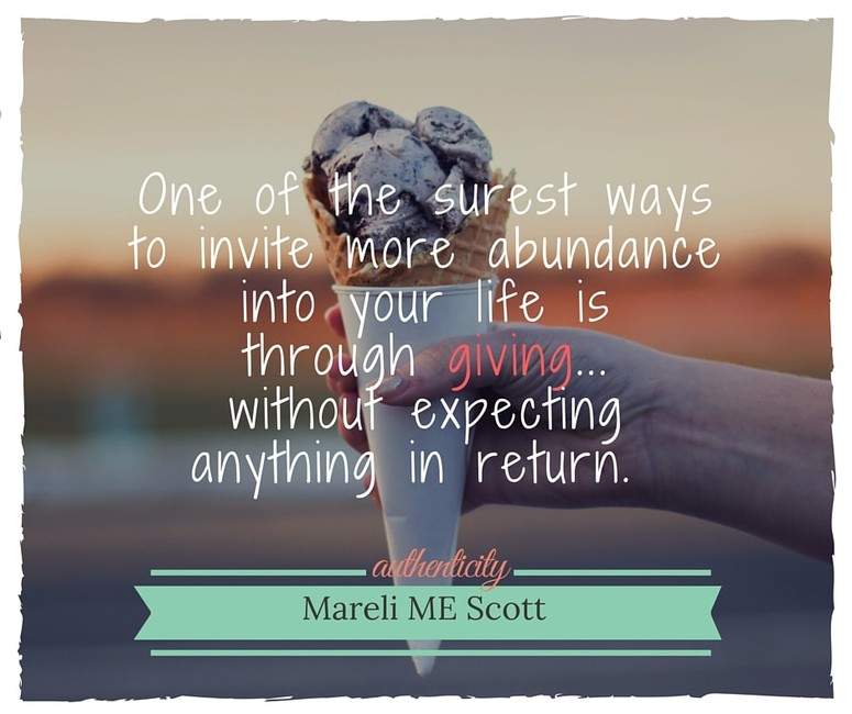 Authentic Giving - Mareli Scott