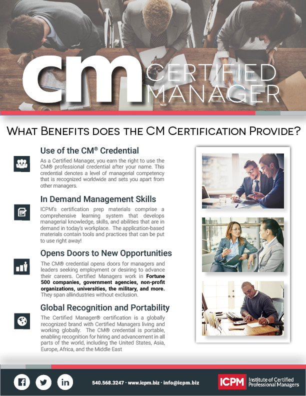 Certified Manager Benefits Flyer