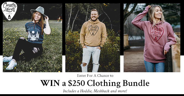 online contests, sweepstakes and giveaways - Country Liberty | Enter For a Chance to WIN a $250 Clothing Bundle!