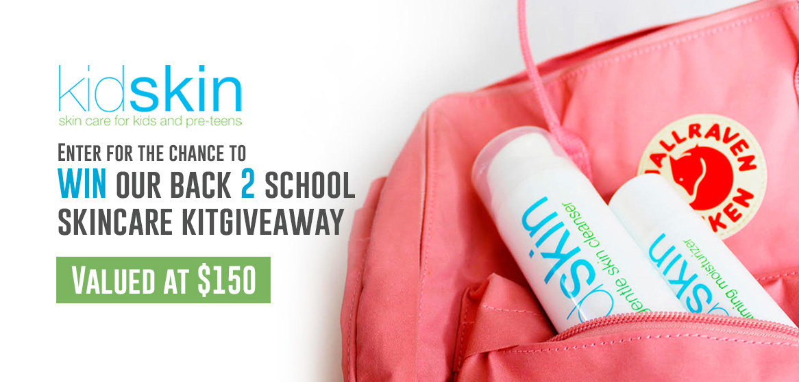 online contests, sweepstakes and giveaways - Enter for the chance to WIN our Back 2 School Skincare Kit Valued at $150
