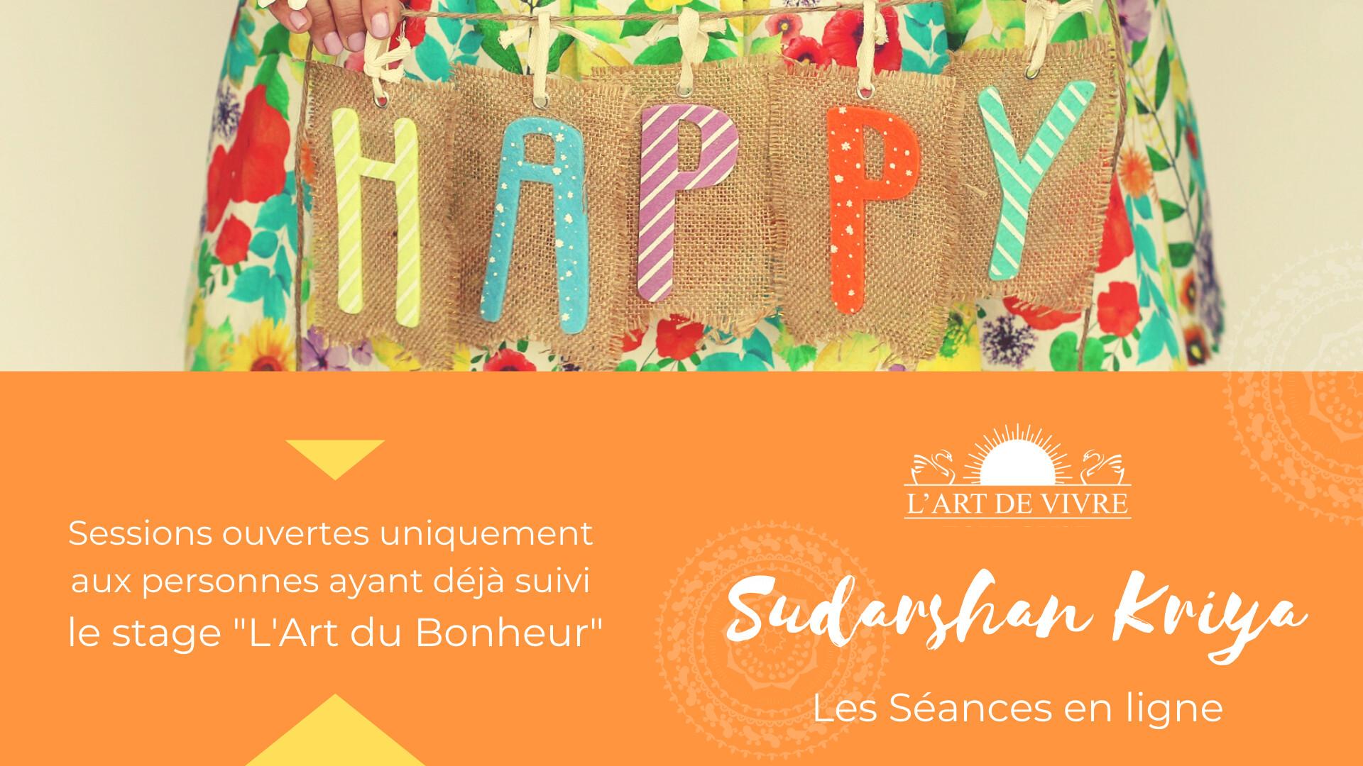 Les séances de suivi du Sudarshan Kriya de l'Art de Vivre FRANCE en ligne