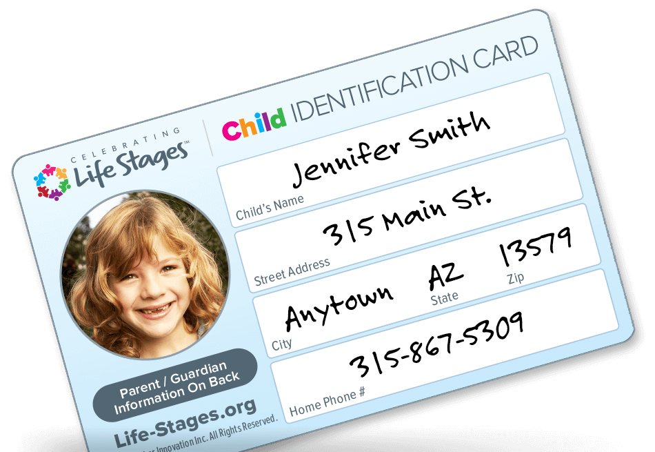 FREE Child Safety ID Card...