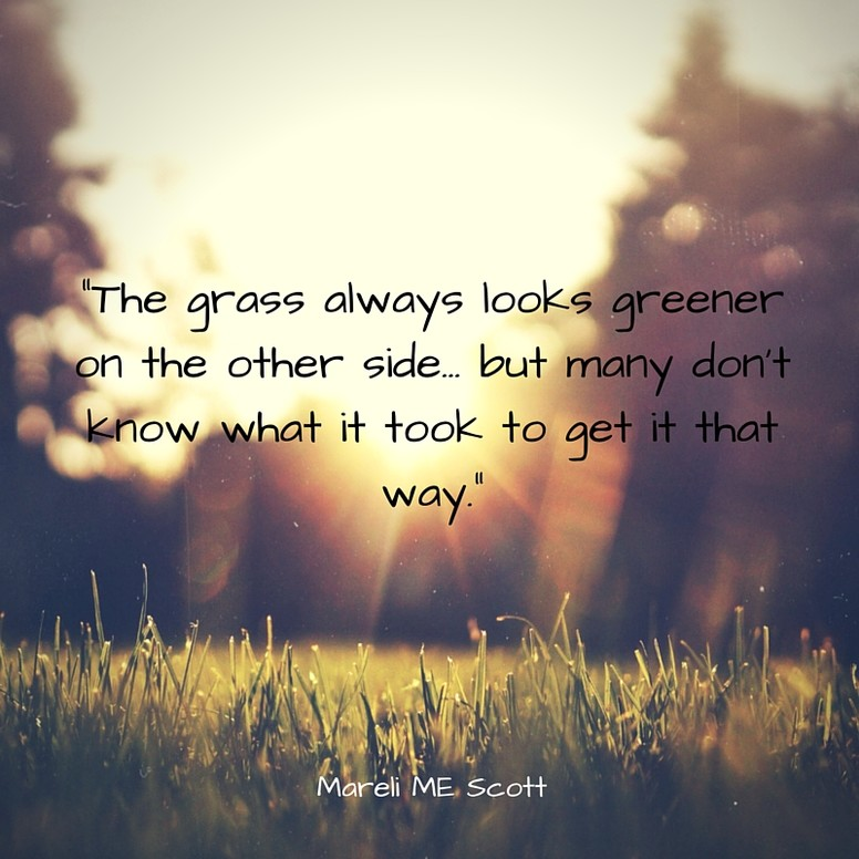 The grass always looks greener - Mareli Scott