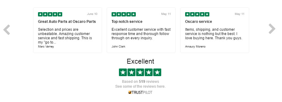 Oscaro Customer Reviews - TrustPilot