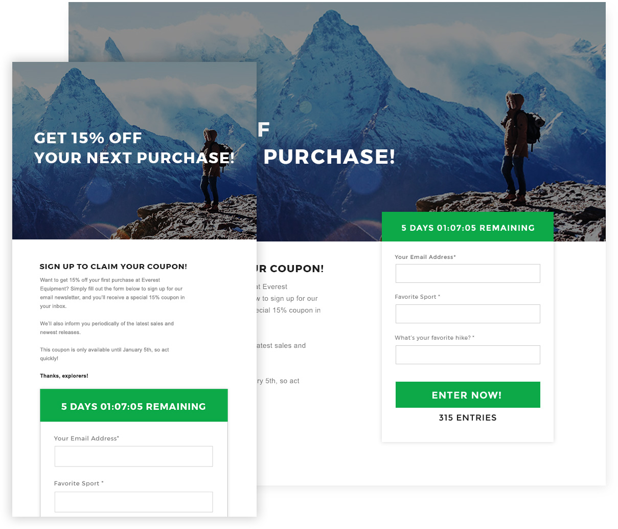 responsive wishpond coupon campaign