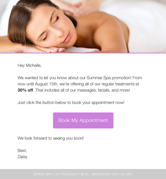 wishpond email marketing example
