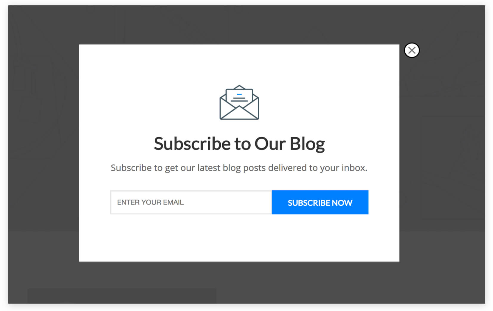 B2B Blog Email Subscription Popup