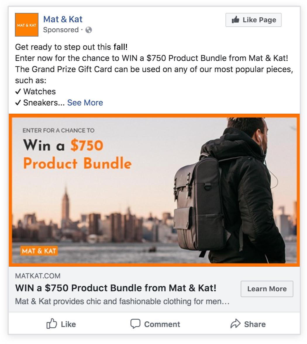 ecommerce facebook ad