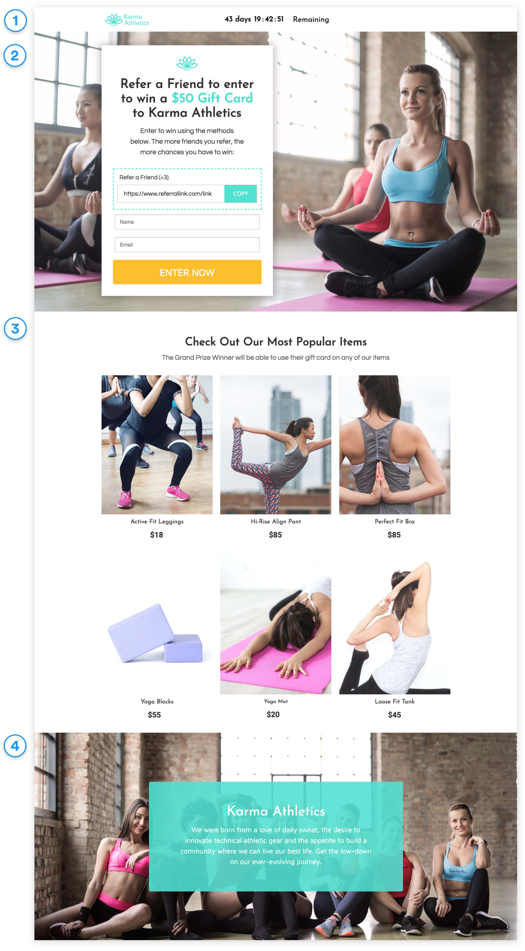 Ecommerce Refer-a-Friend Contest full template