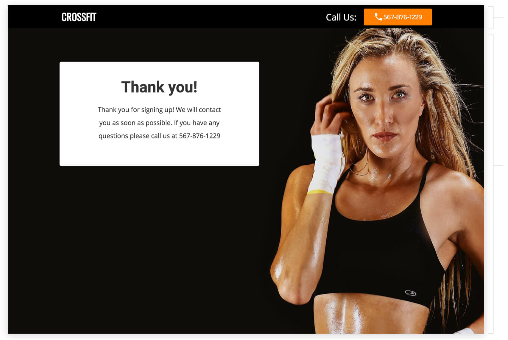 6-week fitness crossfit challenge thank you page