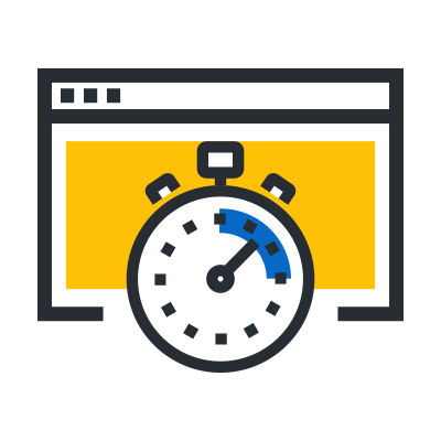 browser with a timer