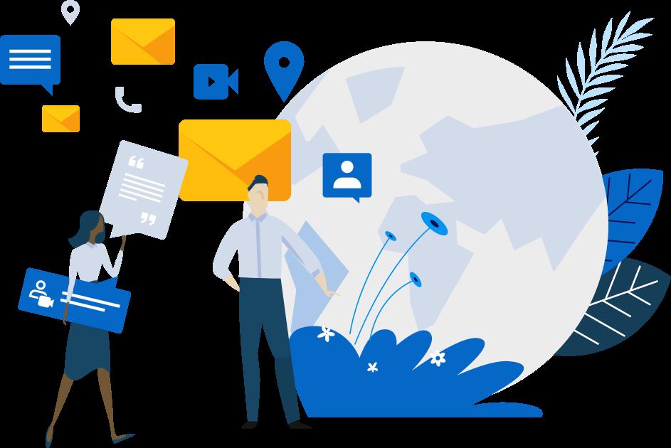 marketing executive illustration