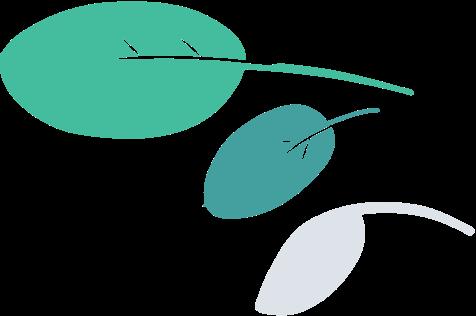 leaves leaning left